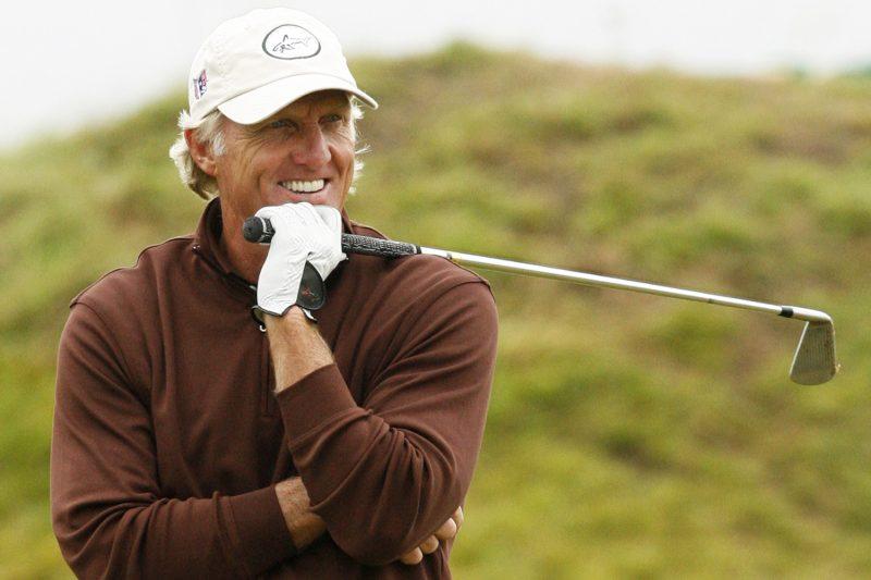 Greg Norman en el Abierto Británico de Golf. Foto: Paul Thomas