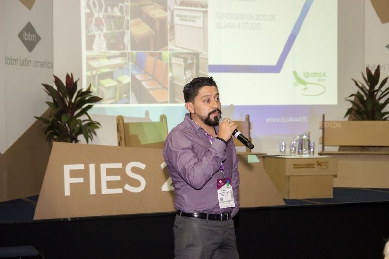 Juan Manuel Flores de Iguana 4 Studio, Eventos sustentables