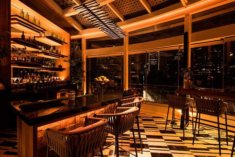 Interior del Bar King Cole en St Regis Mexico City