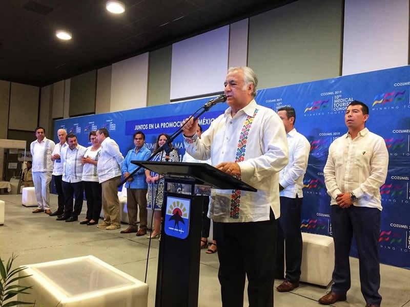 Miguel Torruco Marqués, Secretario de Turismo Federal durante la inauguración del Congreso Internacional de Turismo Médico 2019