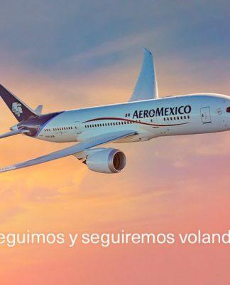 Aeroméxico refuerza Sistema de Salud e Higiene