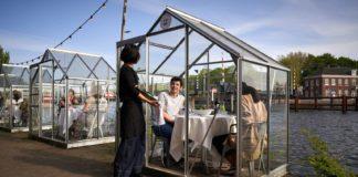 Restaurantes en Ámsterdam imponen distanciamiento social