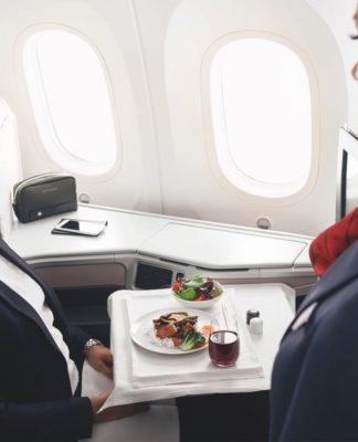 Jérôme Ferrer al panel culinario de Air Canada