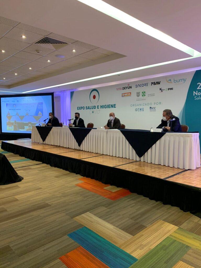 Conferencia de prensa de Expo Salud e Higiene Covid.