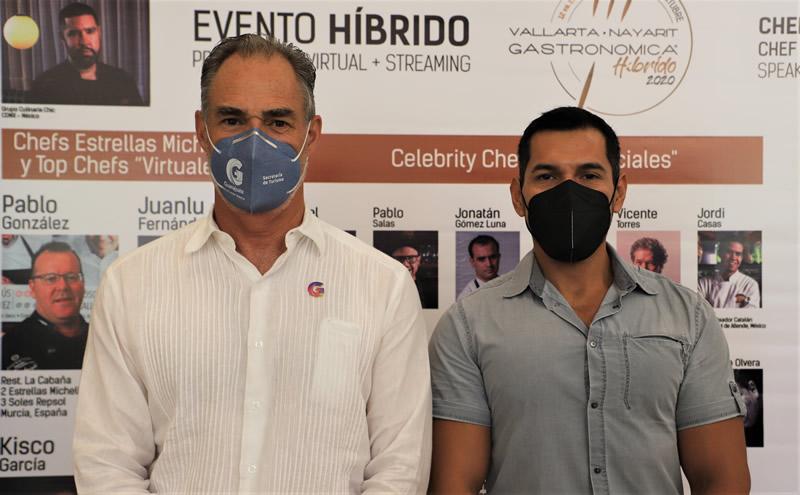 Srio. de Turismo de Guanajuato; Juan José Álvarez  y Director General de la OCV de Irapuato, Carlos Maya R  en VNG 2020