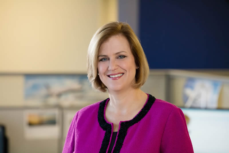 Linda Jojo, vicepresidenta ejecutiva de tecnología y directora de United Airlines.