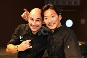 La mancuerna de talentosos chefs, Maximiliano Solá (Zamna Tulum) y Yusuke Kogure (Kogure Japanese Kitchen)